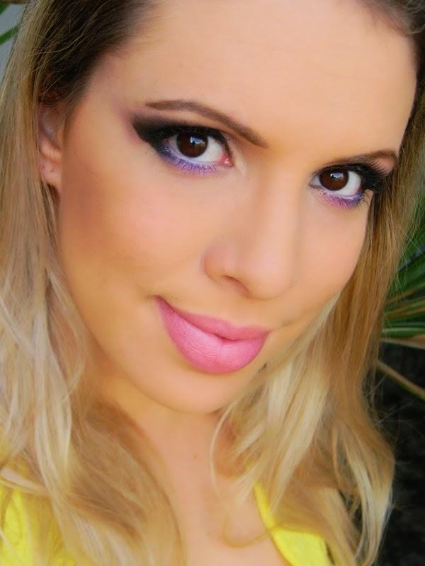 maquiagem violeta vídeo tutorial