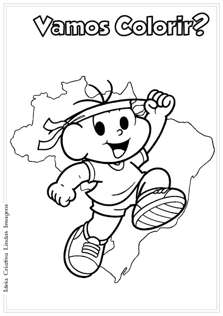 Desenho do Cebolinha Futebol para colorir