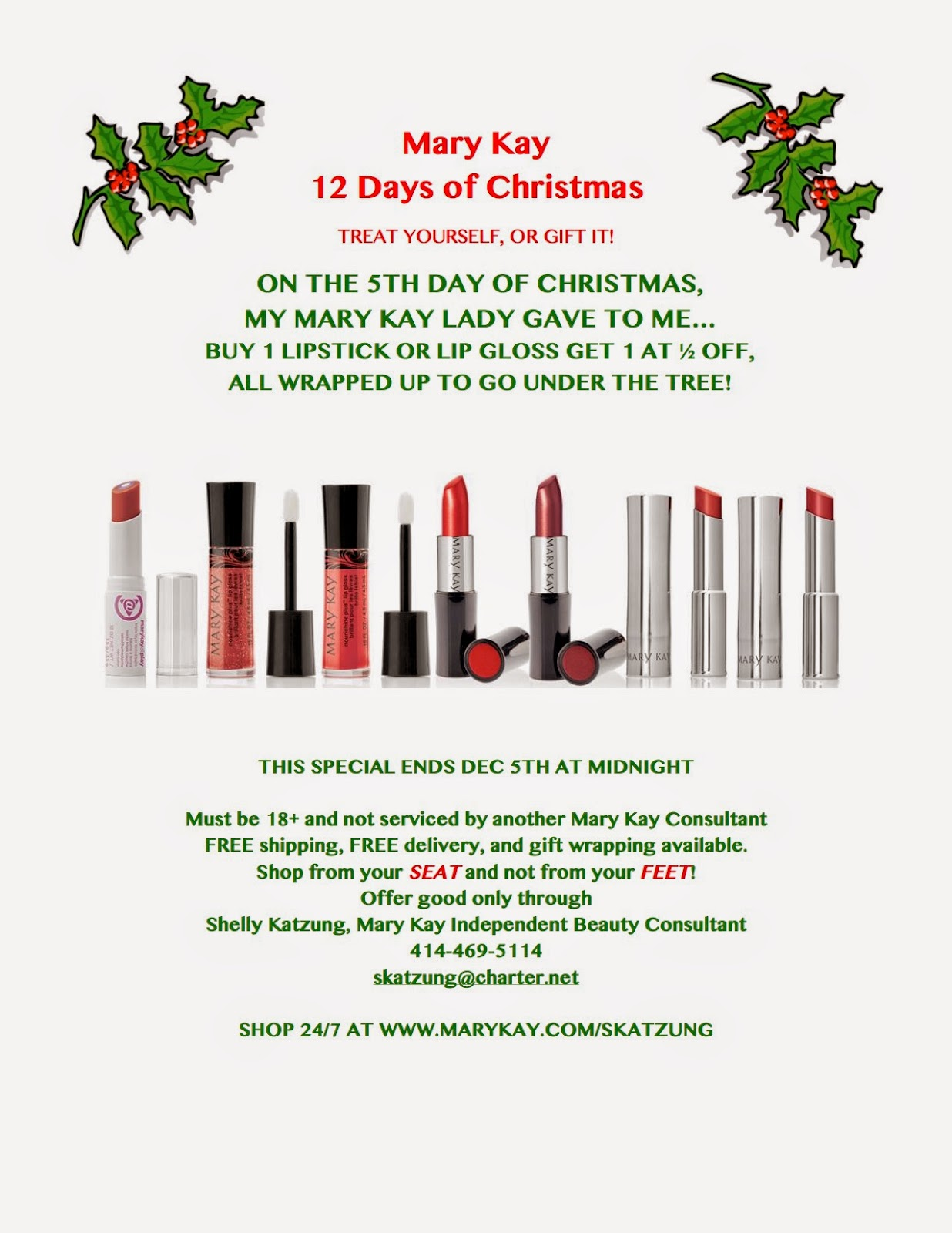 Accentuate 'n Ink: Mary Kay 12 Days of Christmas....DAY 5