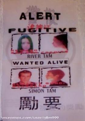 Fugitive Alert River Tam Simon Tam
