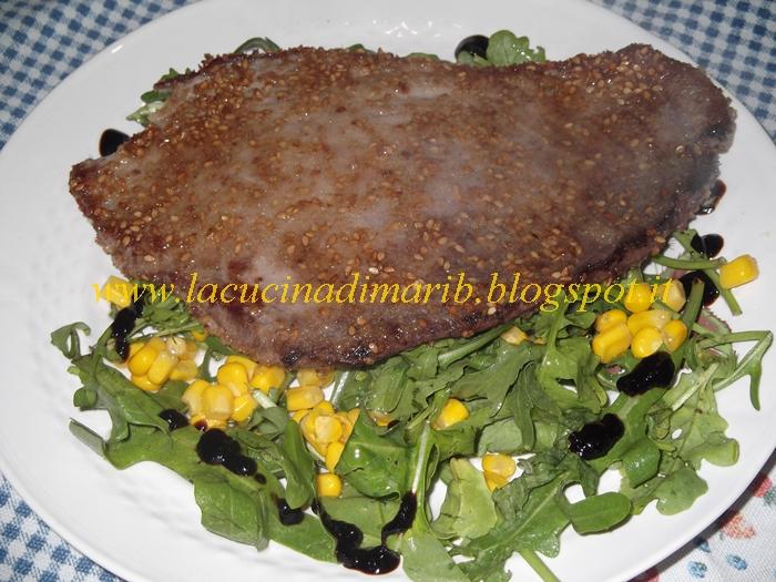 La cucina di mari filetto di tonno al sesamo - Cucinare tonno fresco in padella ...