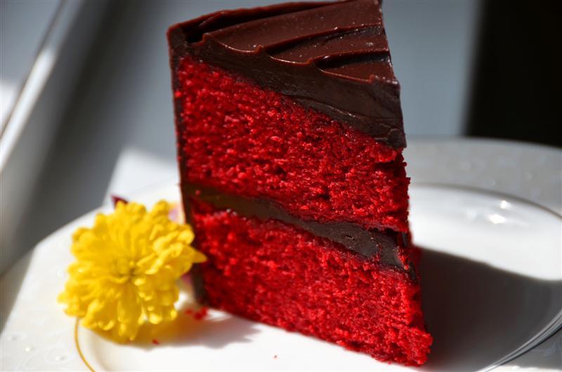 Red Velvet and Chocolate Ganache Cake - ButterYum