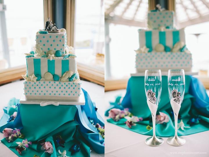 """""""ocean inspired blue wedding cake"""""""