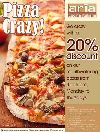 Manila Life: Pizza Crazy at Aria Cucina Italiana