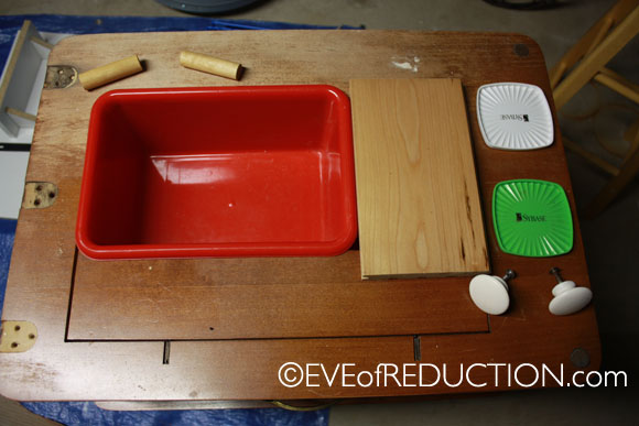 Upcycling: Sewing Cabinet Repurposed into a Child's Play Kitchen ...