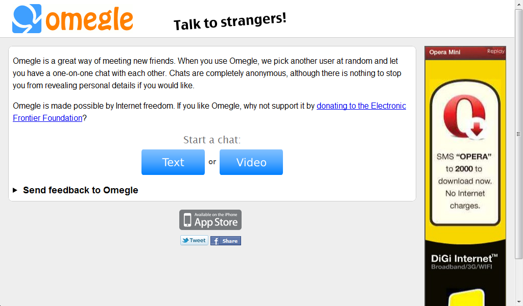 hotchat omegle video talk strangers