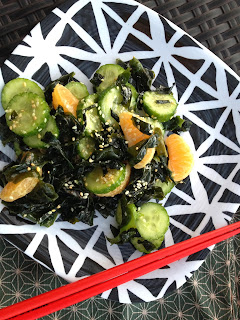 Cucumber & Wakame Salad with Clementines