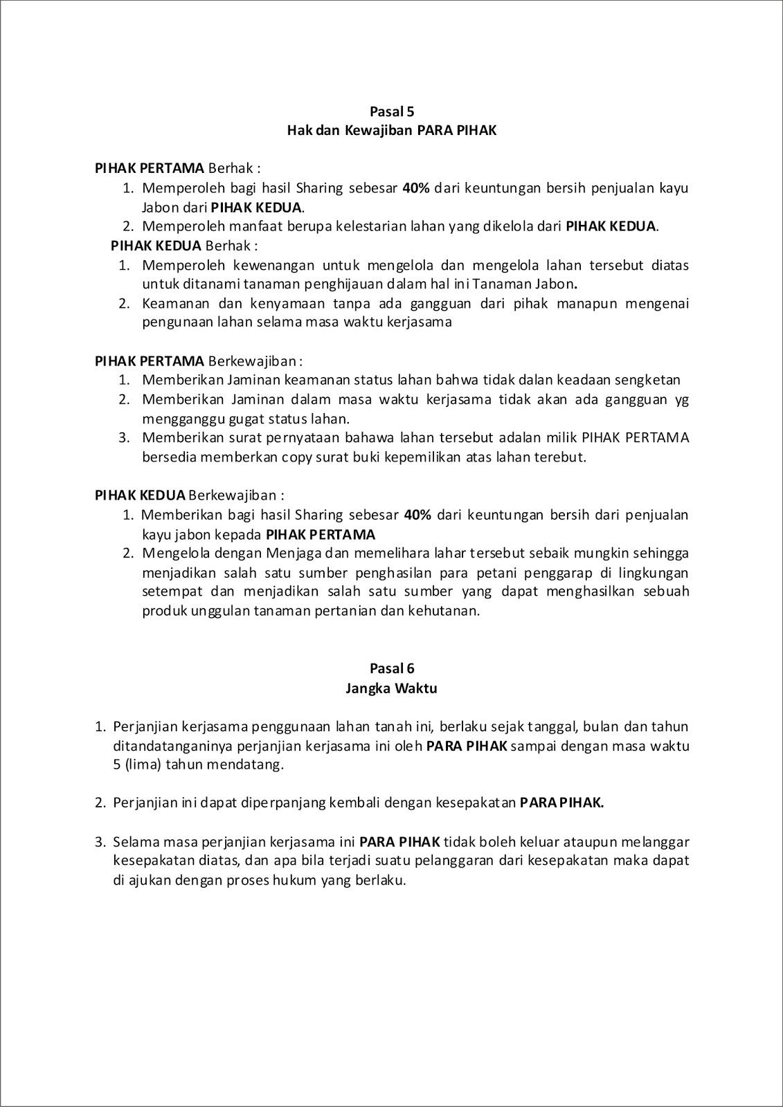 Contoh Surat Perjanjian Kerjasama Investasi Forex 3