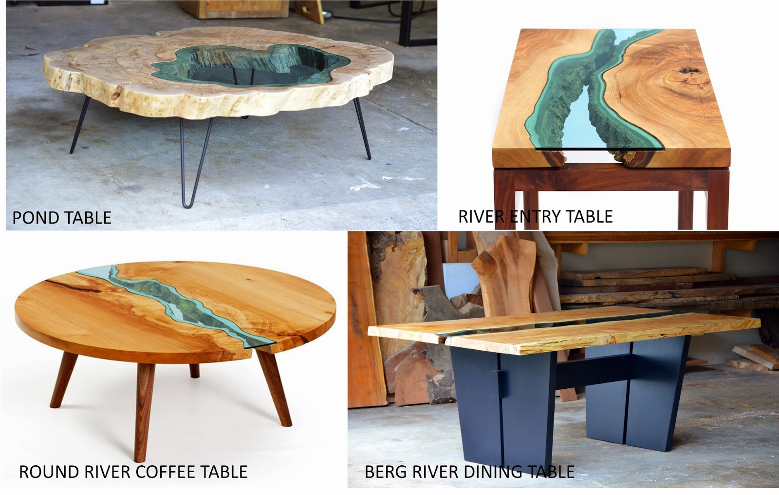 Topographic furniture river collection by greg klassen for Table design river