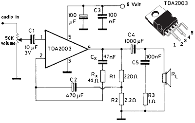 Simple and useful mini-amplifier circuit