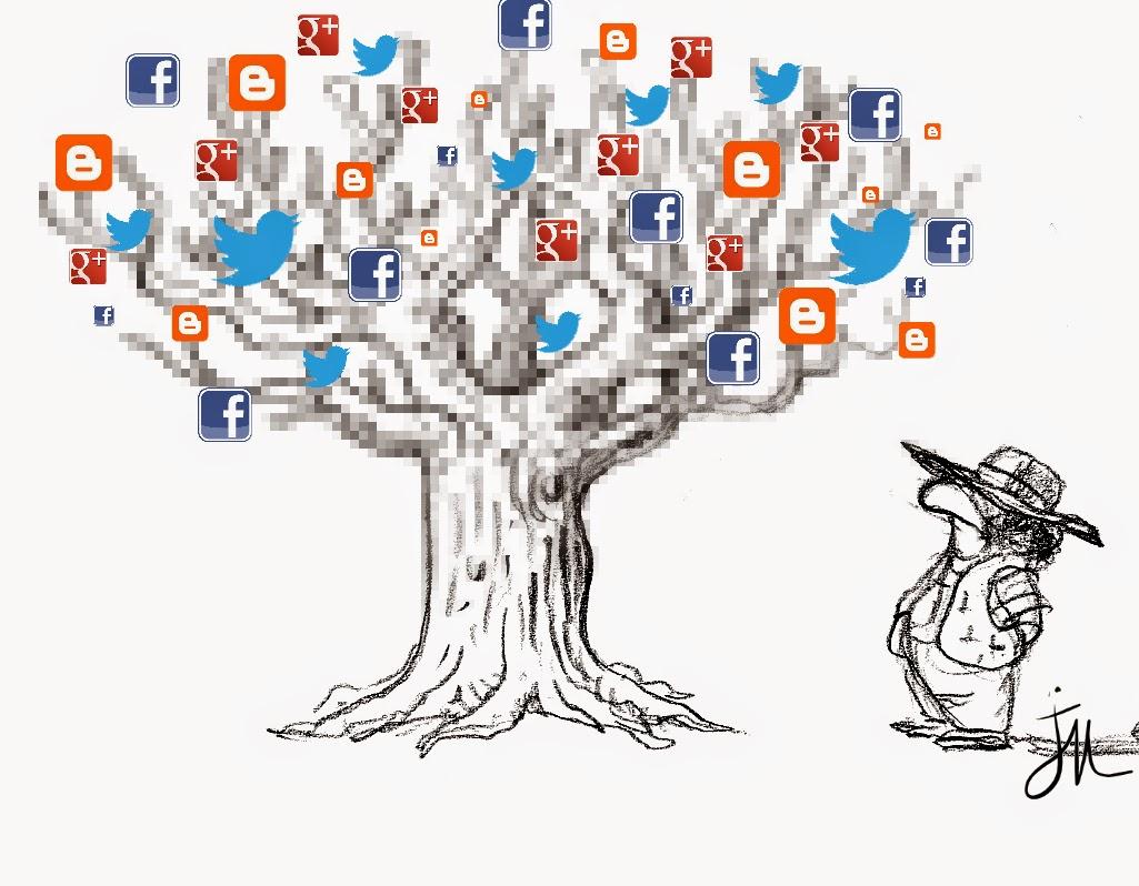 le principe d'un blog, un arbre