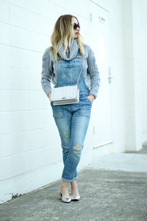 madewell overalls chunky knit sweater parlor girl