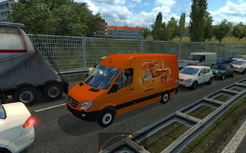 ETS2 Mod - Pack de Vans de Companhias Para o Tráfego V.1.0 Para V.1.26.X By: Skleroza