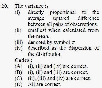 2012 December UGC NET in Home Science, Paper II, Question 20