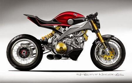 gambar konsep motor honda futuristik