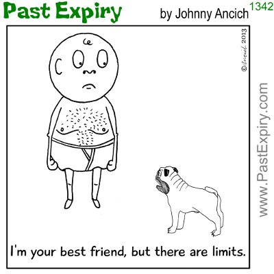 Cartoon about dogs, relationships, environment,