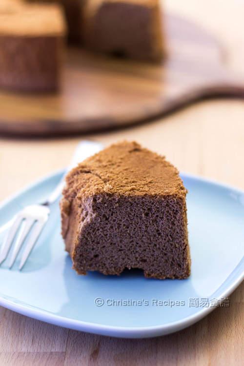 朱古力戚風蛋糕 Chocolate Chiffon Cake03