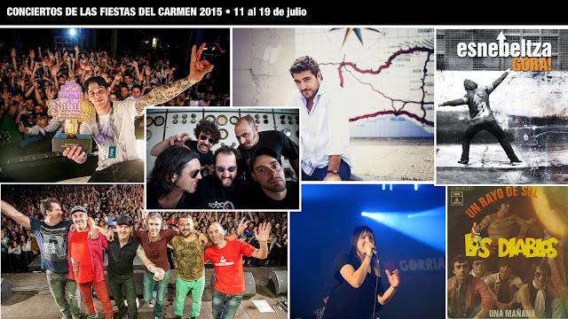 Conciertos de fiestas 2015