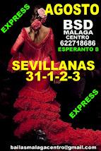 AGOSTO, SEVILLANAS EN BSD BAILAS SOCIAL DANCE MÁLAGA CENTRO.