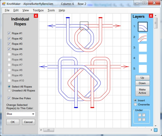 Ropes And Poles Knotmaker Software For Drawing Knots