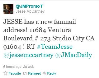 Uusi Jesse McCartney faniposti osoite  Ga