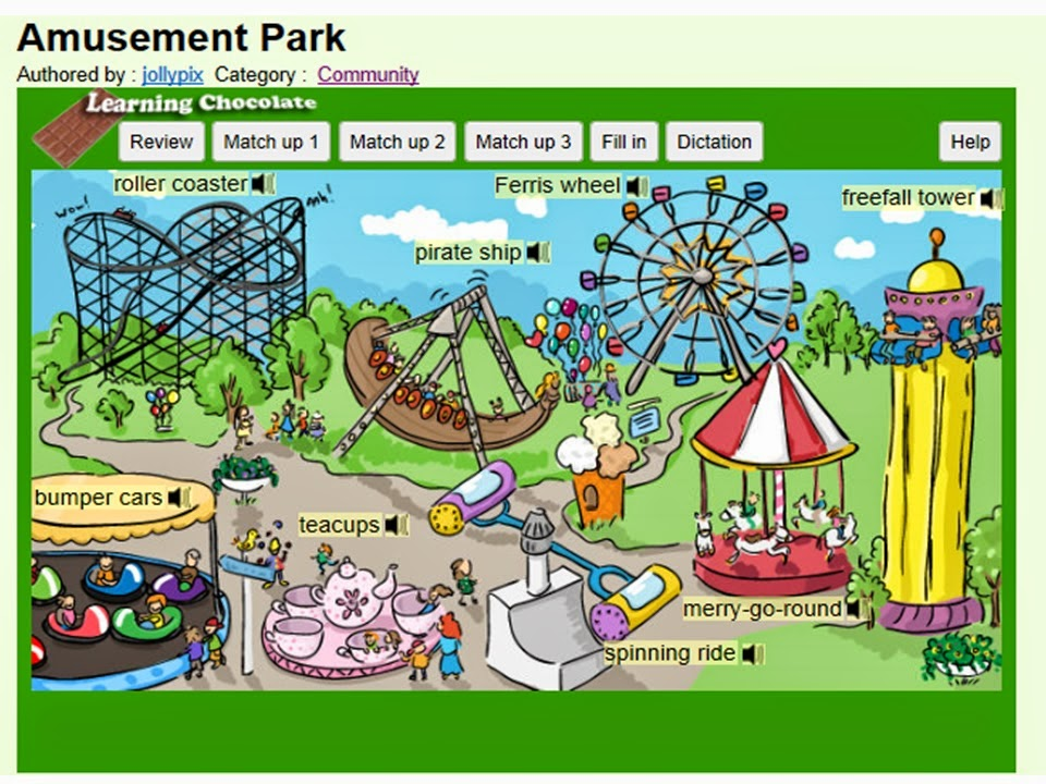 http://www.learningchocolate.com/content/amusement-park