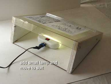 Inexpensive DIY Light Box   Laptop Style For Storyboards And Animation