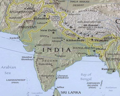 Map of Asia Pictures – The Map of South Asia