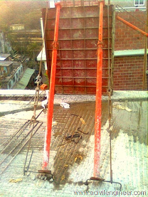RCC column, construction process of RCC column