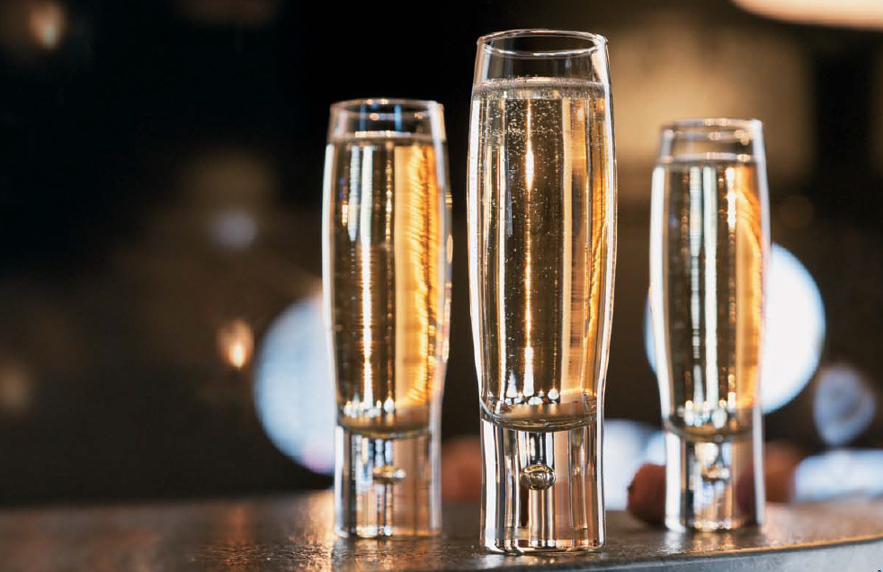 West Wind Stemless Champagne Flutes