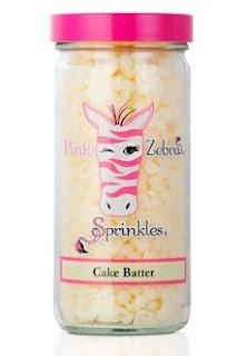 Pink Zebra Cake Batter Sprinkles Image