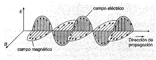 Campos electrico y magnetico de una onda electromagnetica