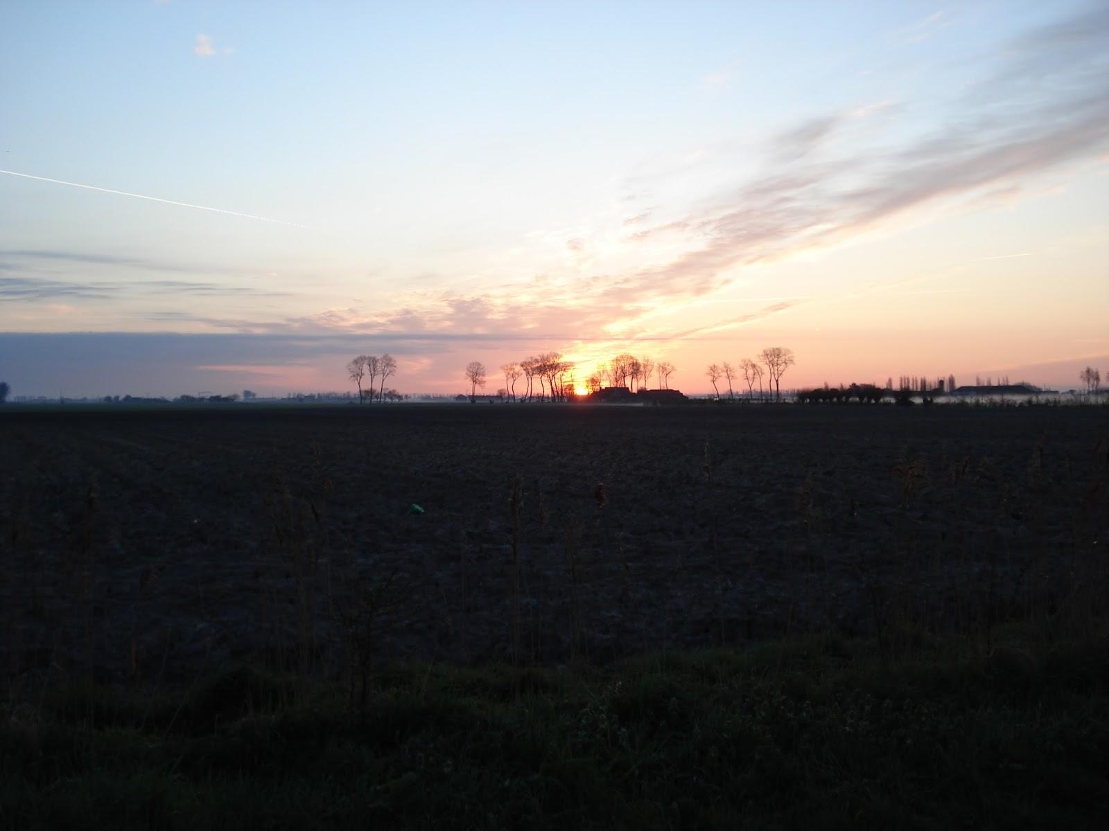 zonsopgang in de Moeren