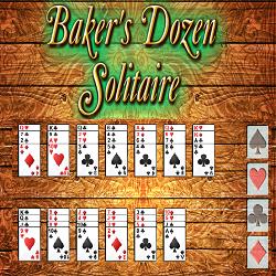 Baker's Dozen Solitaire Card Game