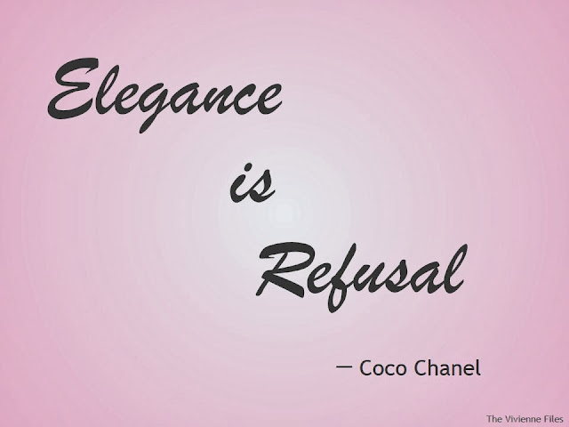 elegance is refusal what does this mean the vivienne files