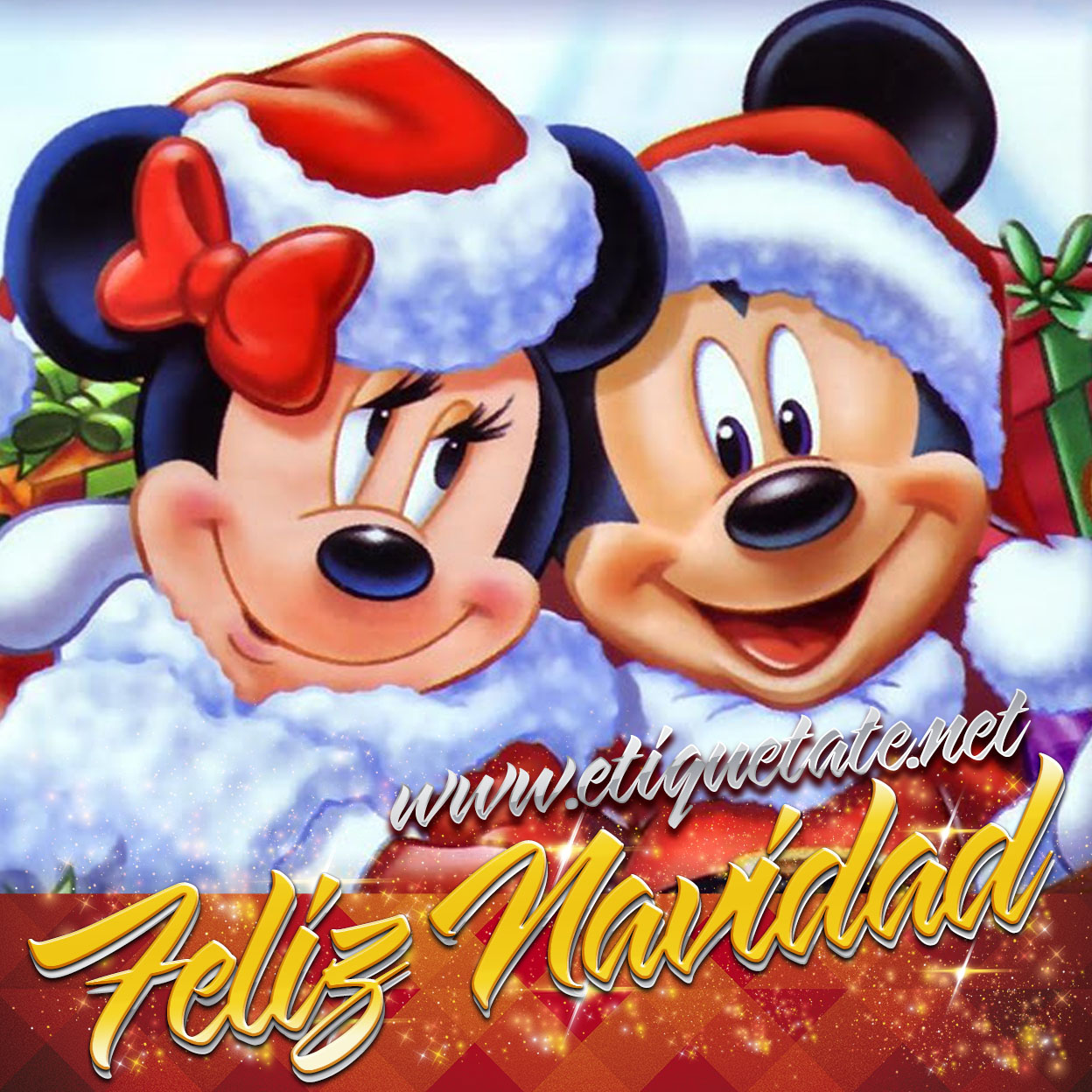 Gratis     Im  Genes Navide  As De Mickey Mouse Y Minnie Para Facebook