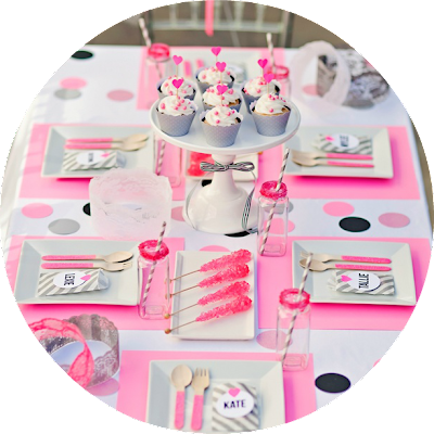 flamingo party inspiration pink table