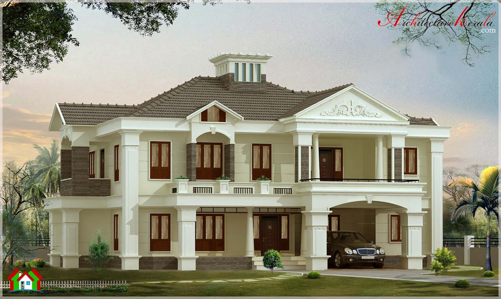3500 square feet contemporary style house architecture kerala - Luxery home plans gallery ...