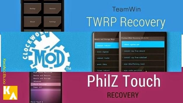 Custom recovery CWM PhilZ TWRP