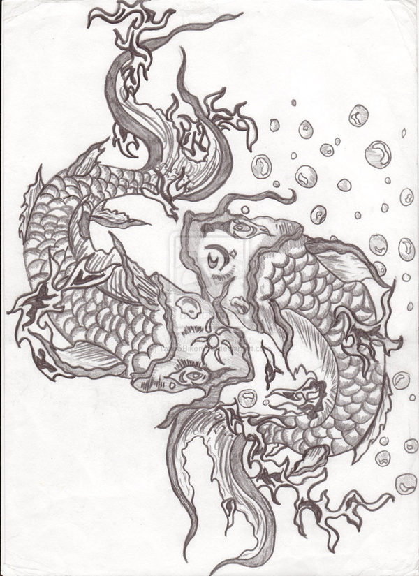 Koi Twins by TattooBiker666
