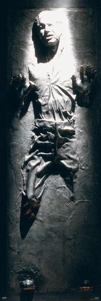 Poster Han Solo en carbonita