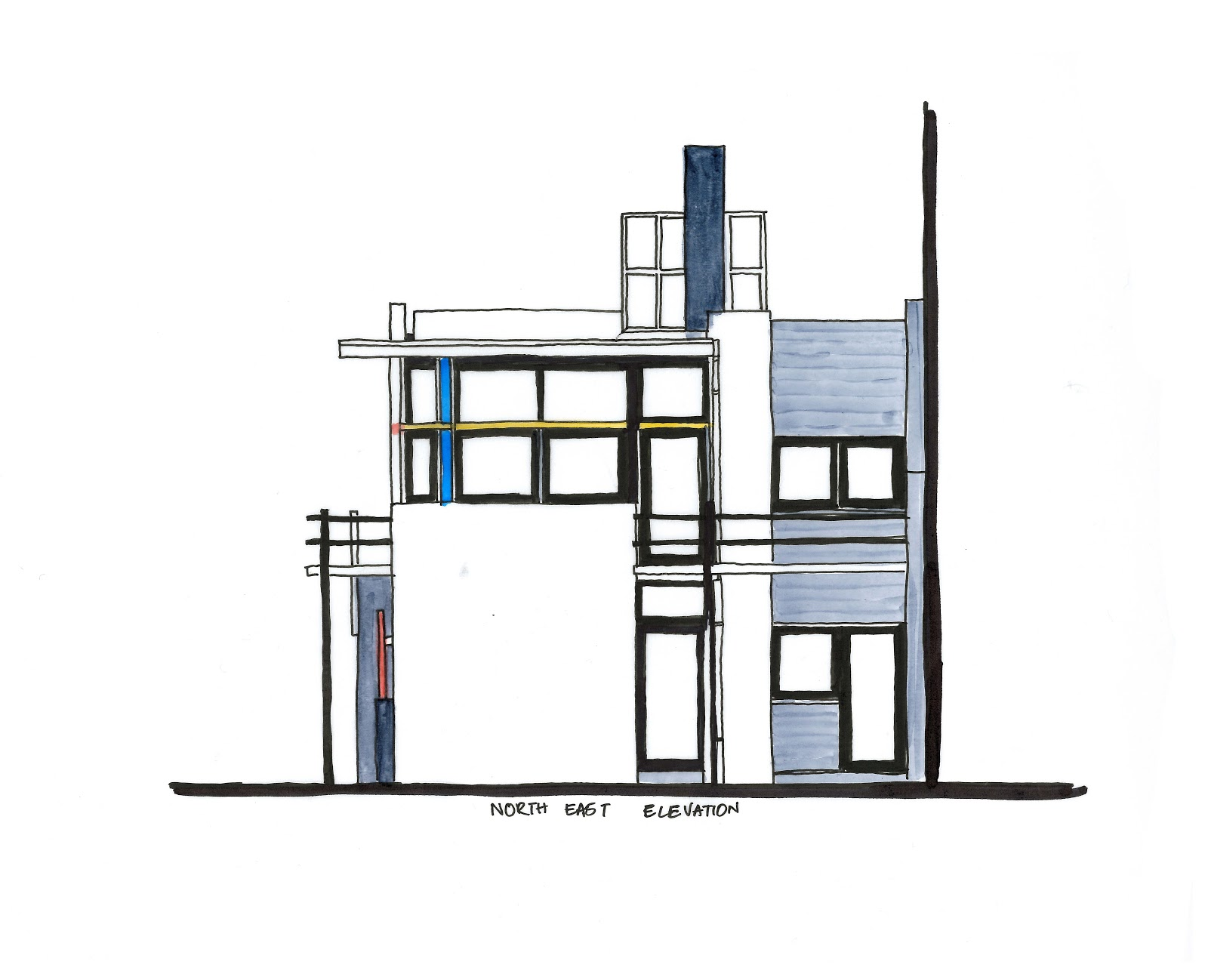 The Rietveld Schroder House Diagrams An In Depth Analysis Of The Design Of The Rietveld