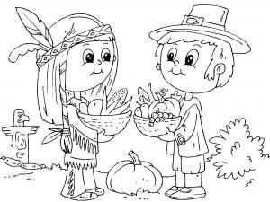 Dibujos Dia de Accion de Gracias para Colorear, parte 2