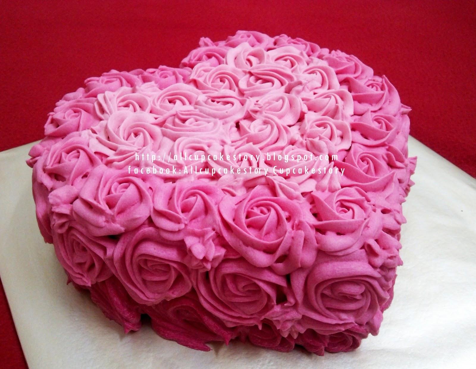 Love Bday Cake Images : allcupcakestory: Rosette Love Birthday Cake