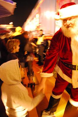 santa wishing