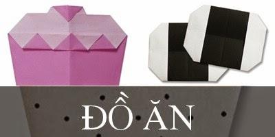Gấp giấy Origami hình Đồ Ăn