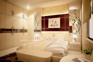 kamar tidur utama - bed / kasur