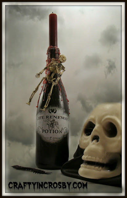 Halloween, Potion Bottle, Skeleton