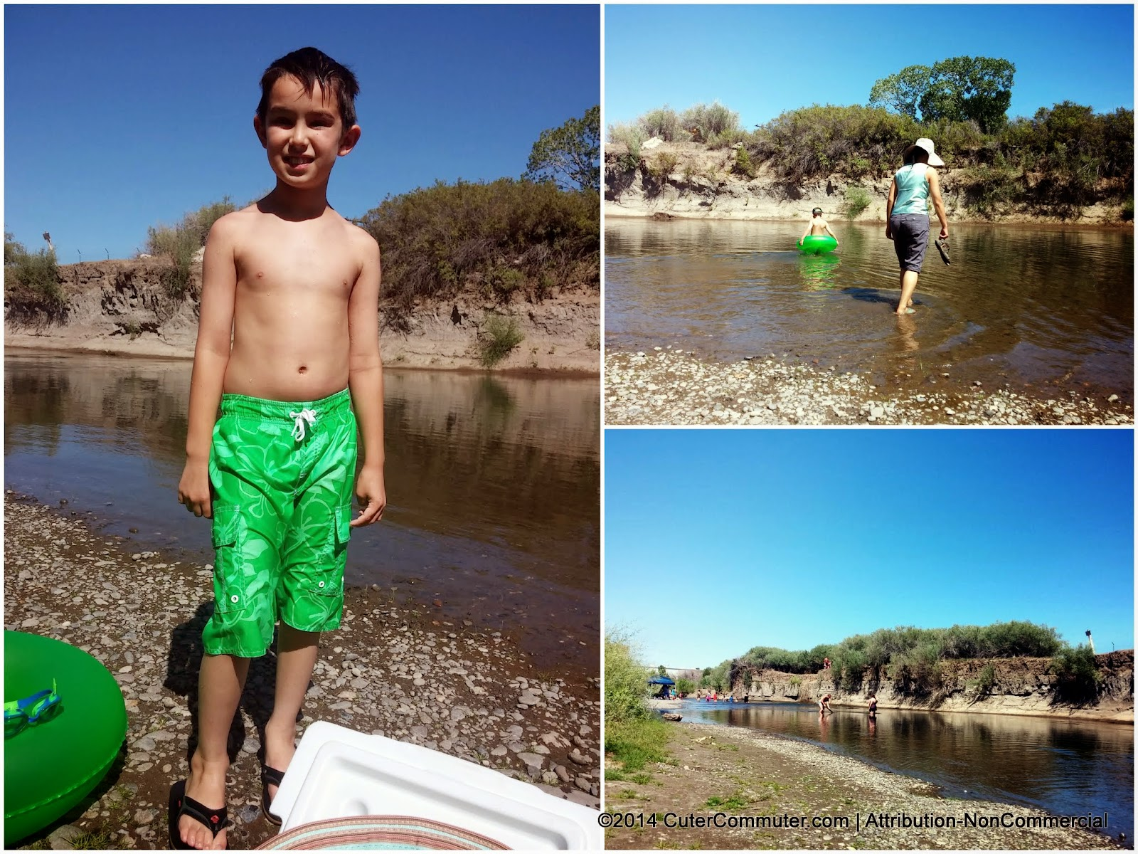 Boy on the beach at the Truckee River