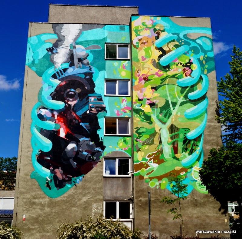 warszawa stolica mural wola graffiti blok ściana